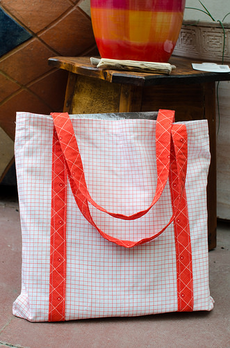 Notebook fabric tote - Gridlines facing