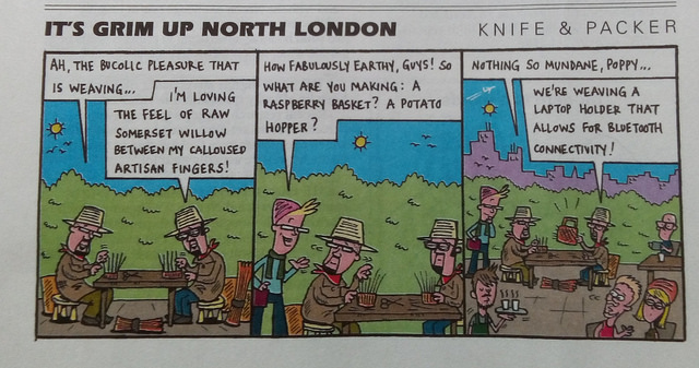 Weaving cartoon from Private Eye