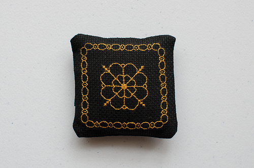Another blackwork lavender bag