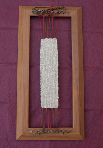 Bookmark on the loom