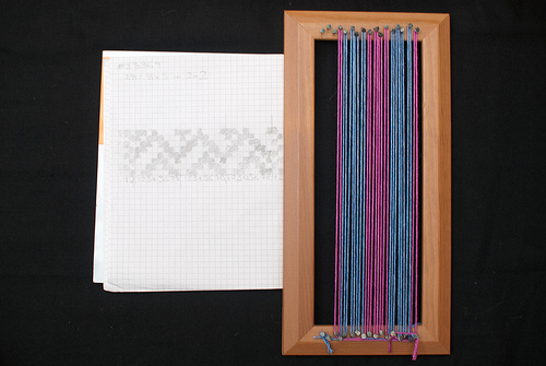 Prepared and ready to weave