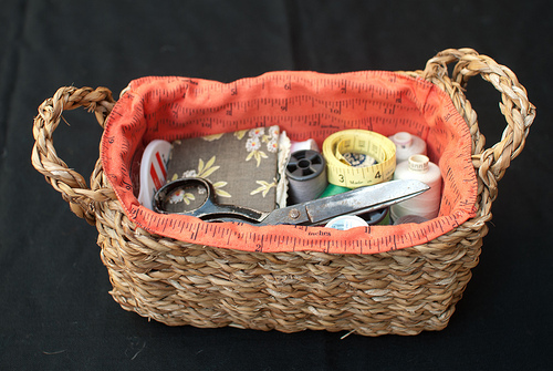 Sewing basket - side vie