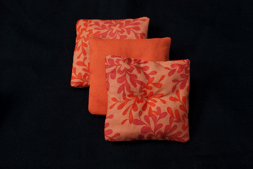 Orange lavender bags