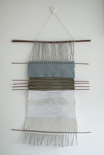 Finished Finnish inspired weaving