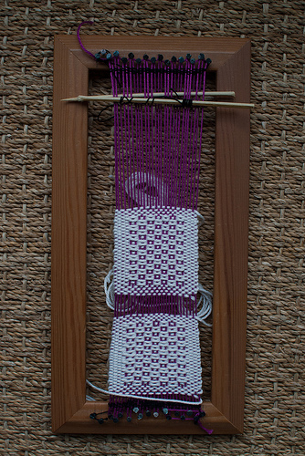 Weaving project 27: on loom during the craft weekend