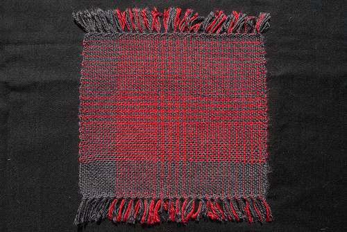 Finished weaving project 30: a colour and weave sampler