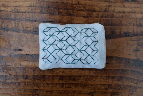 Green geometric blackwork