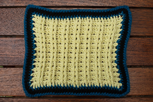 Ribbed dishcloth